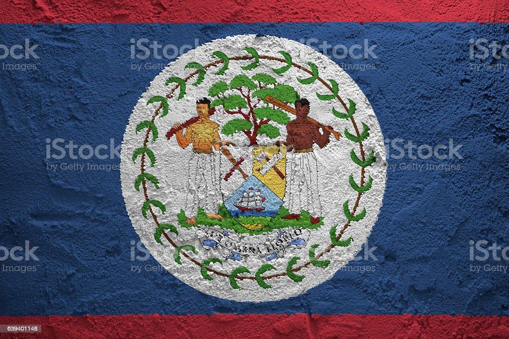 Flag of Belize stock photo