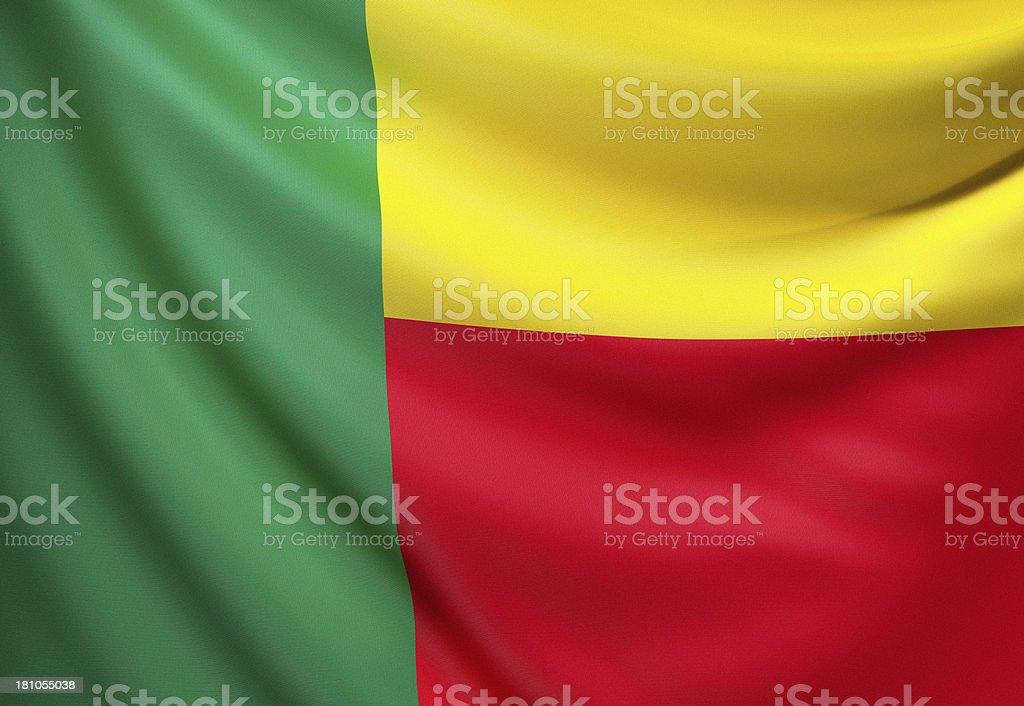 Flag of Benin stock photo