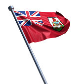 Flag of Bermuda isolated on white