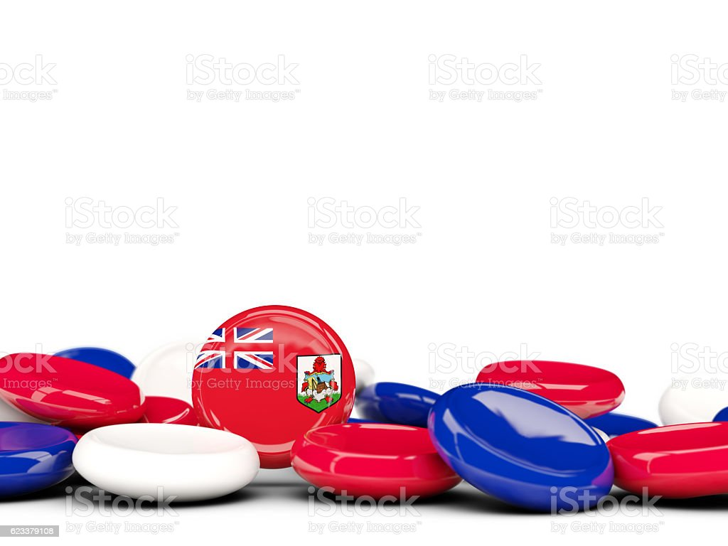 Flag of bermuda, round buttons stock photo