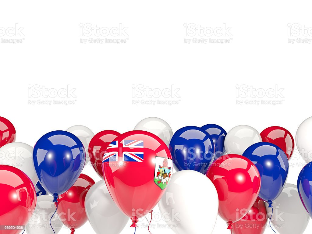 Flag of bermuda with balloons stock photo