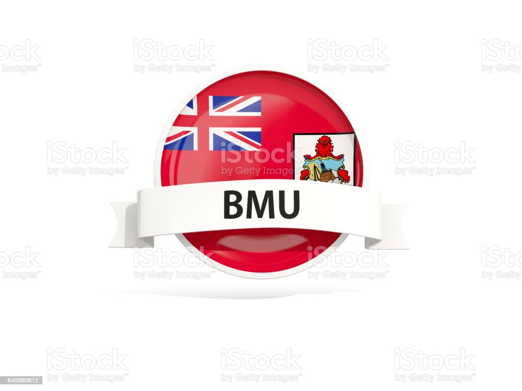Flag of bermuda with banner stock photo