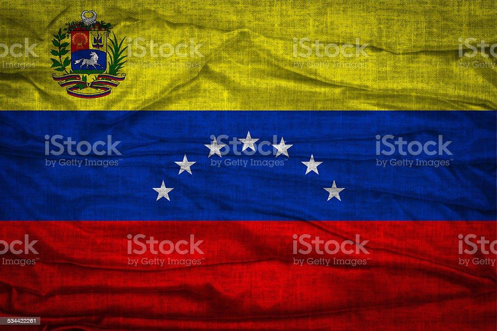 Flag Of Bolivarian Republic of Venezuela stock photo