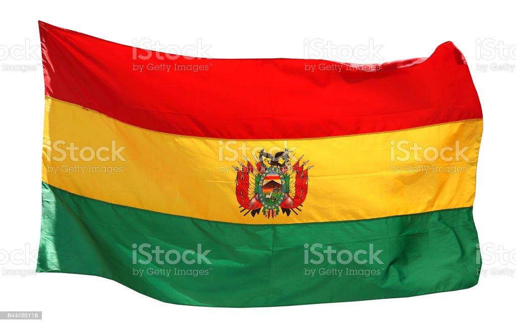 Flag of Bolivia - isolated on white stock photo
