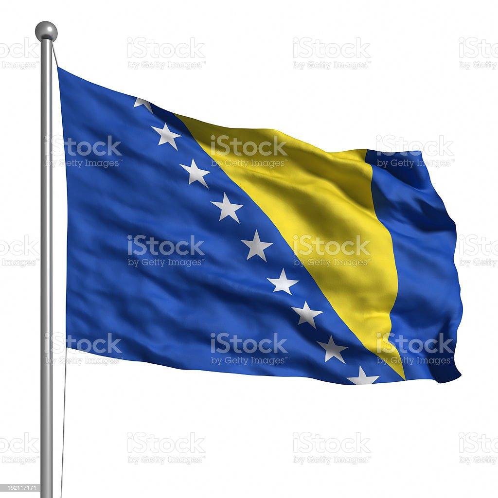 Flag of Bosnia and Herzegovina (Isolated) stock photo