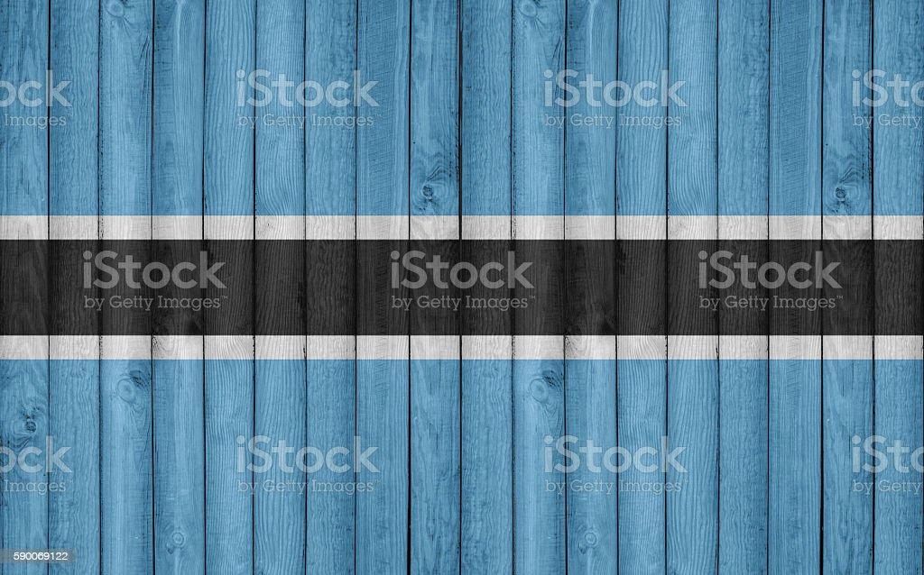 Flag of Botswana painted on wooden frame stock photo