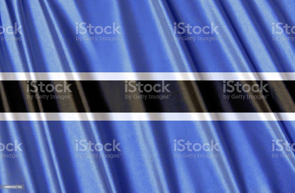 Flag of Botswana stock photo