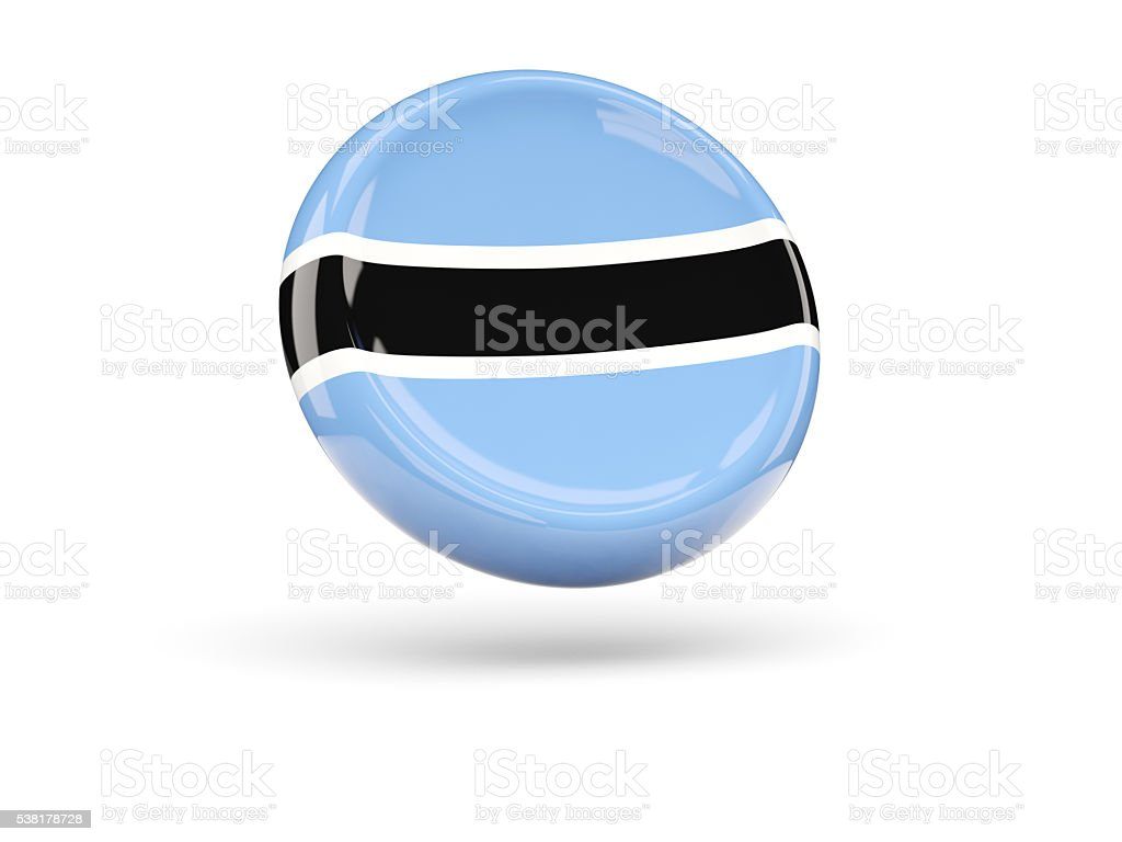 Flag of botswana. Round icon stock photo