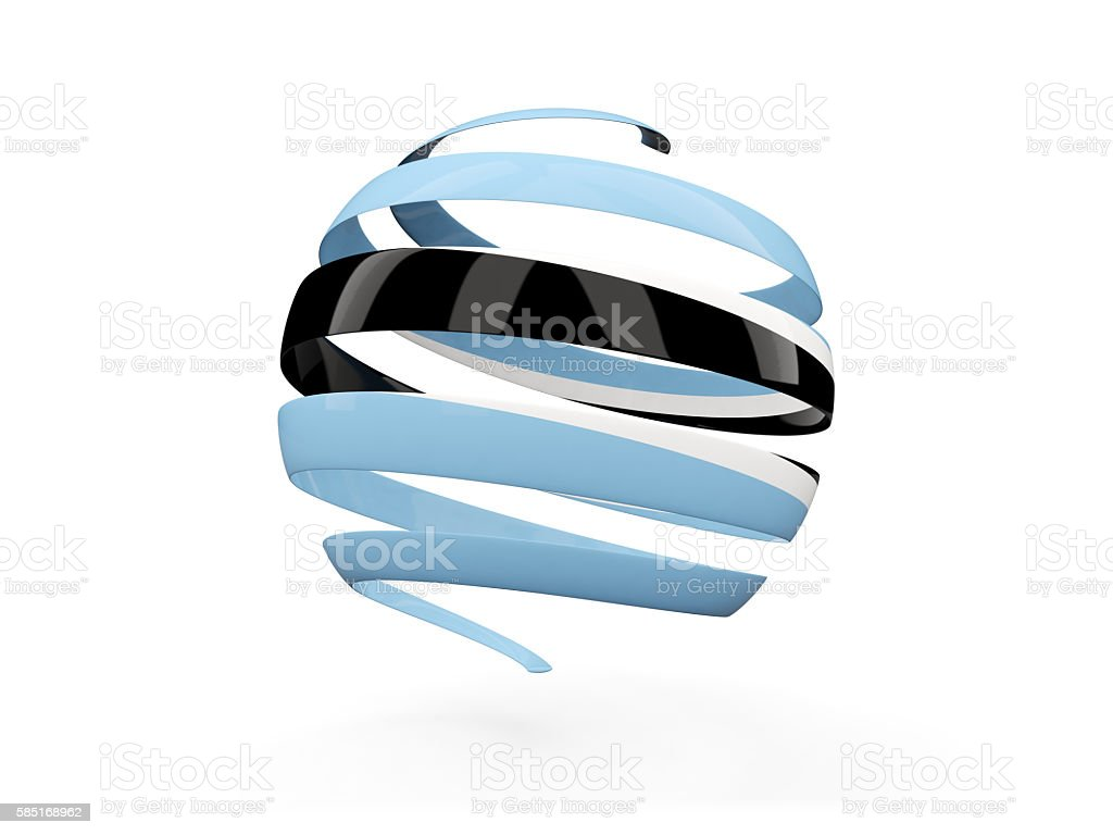 Flag of botswana, round icon stock photo