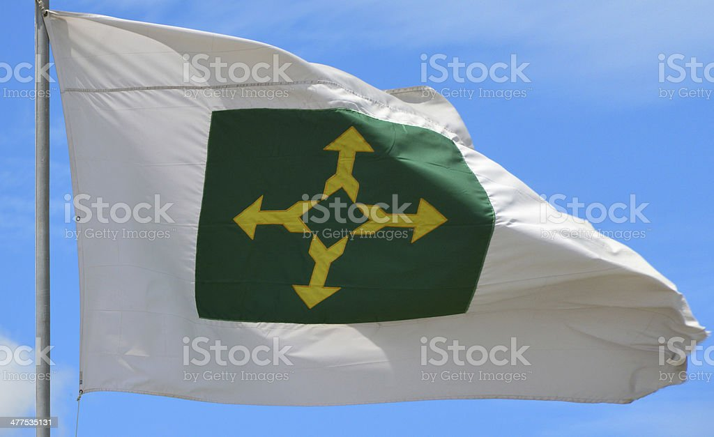 flag of Brasil's Federal District stock photo