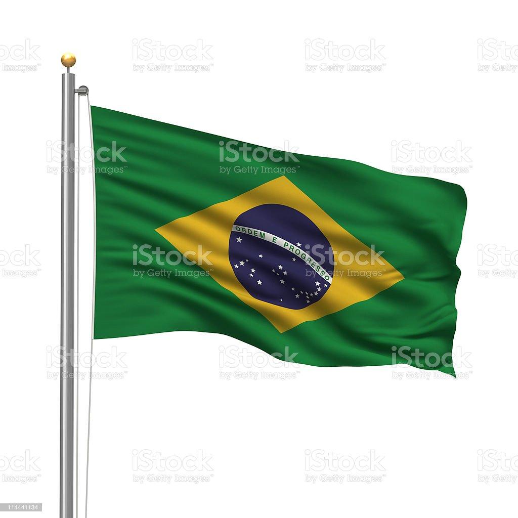 Flag of Brazil royalty-free stock photo