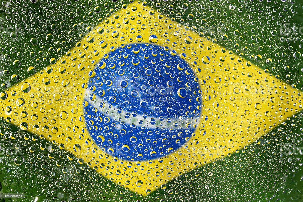 Flag of Brazil royalty-free stock photo