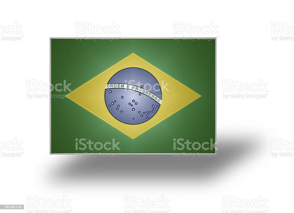 Flag of Brazil (stylized I). royalty-free stock photo