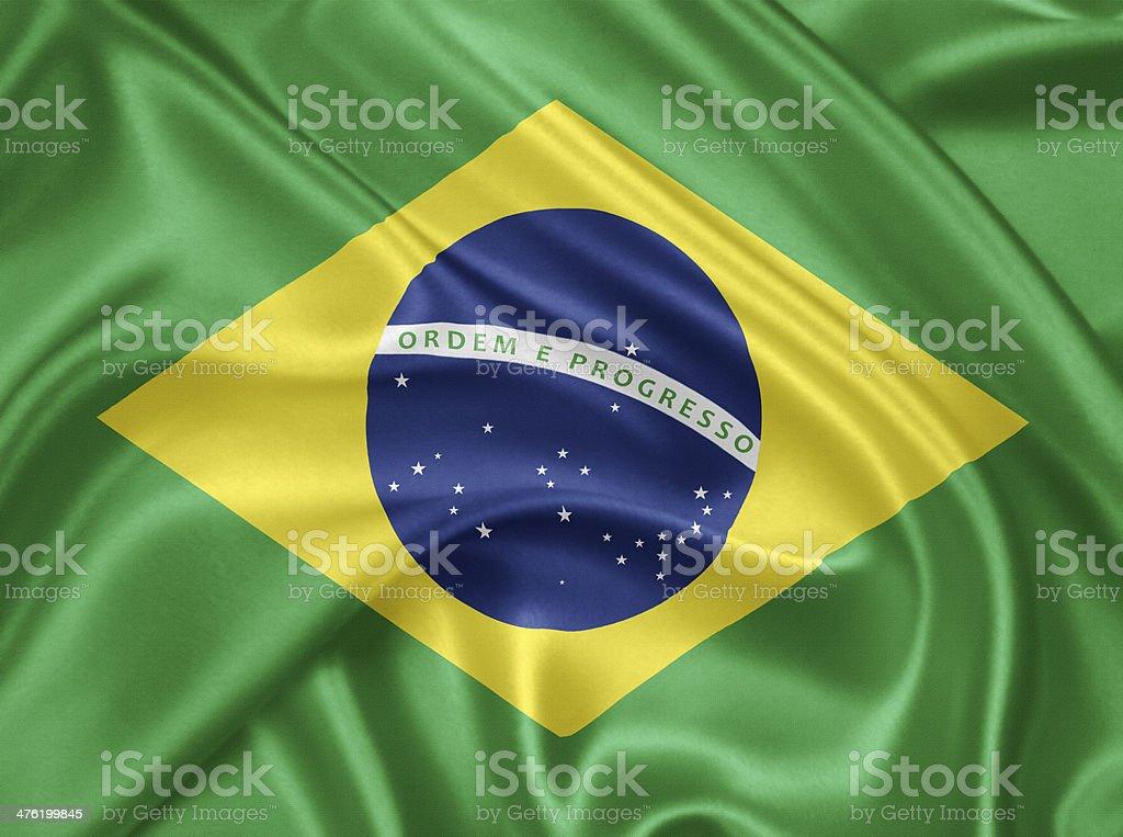 Flag of Brazil stock photo