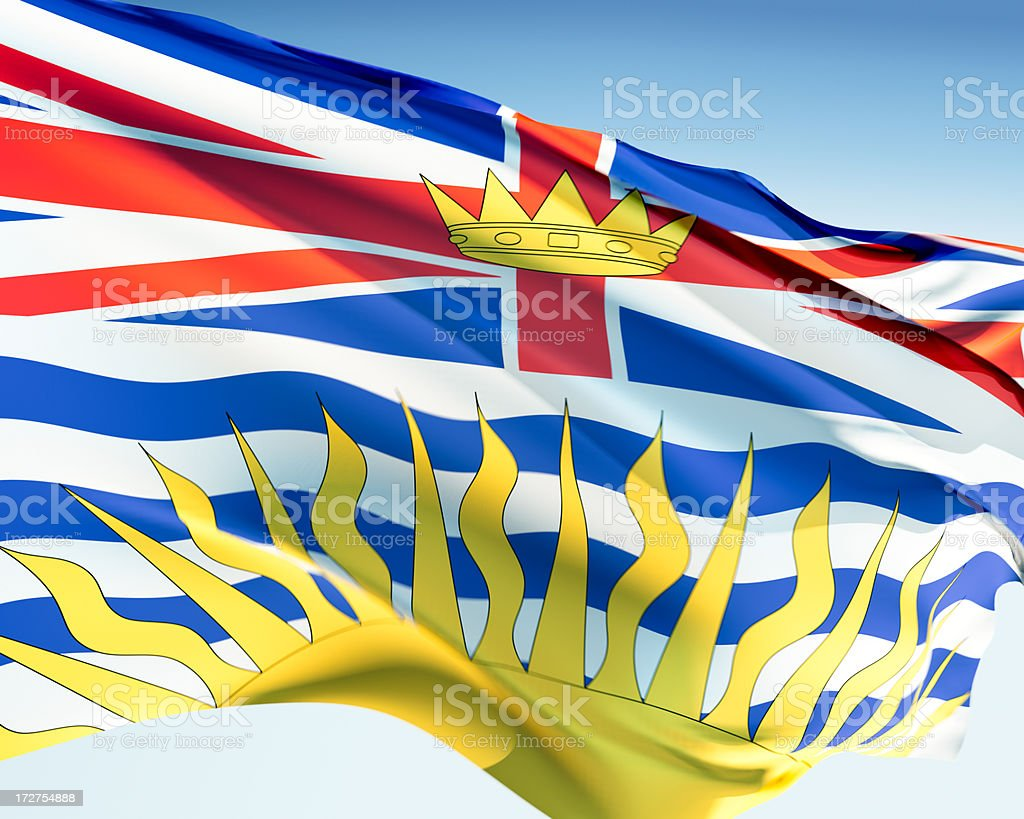 Flag of British Columbia royalty-free stock photo