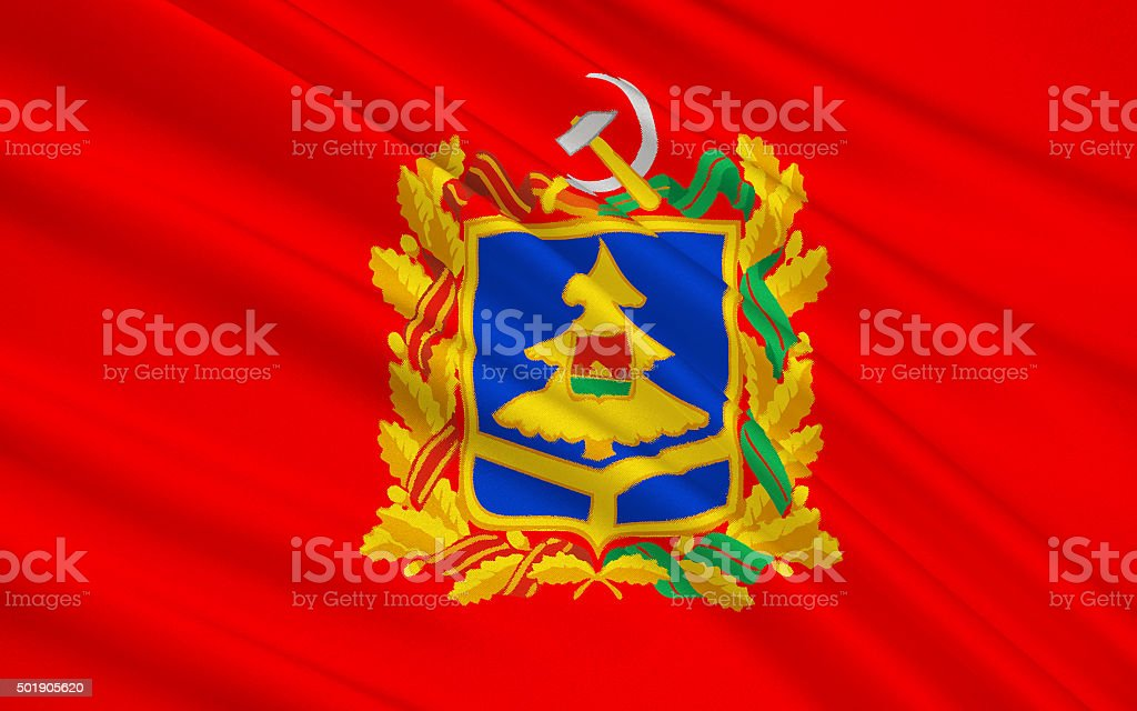 Flag of Bryansk Oblast, Russian Federation stock photo