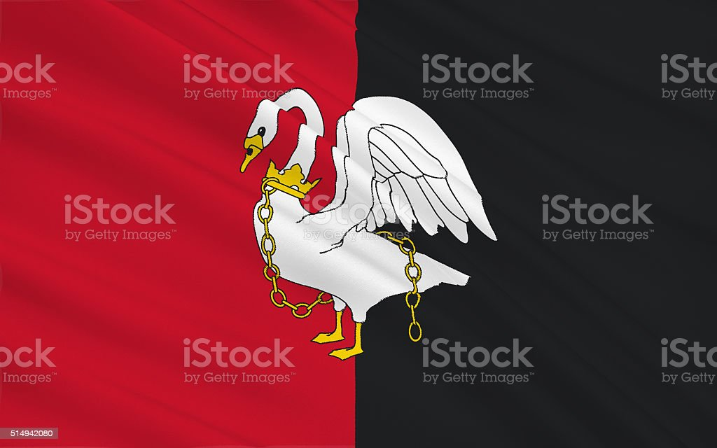 Flag of Buckinghamshire is a ceremonial county, England stock photo