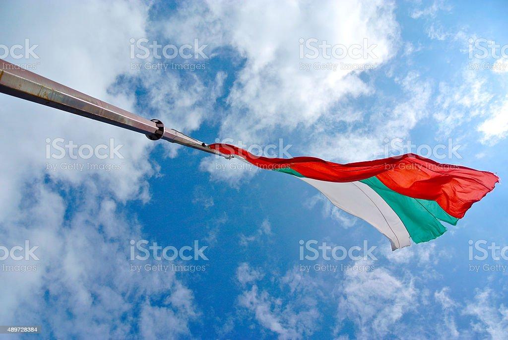 Flag of Bulgaria stock photo