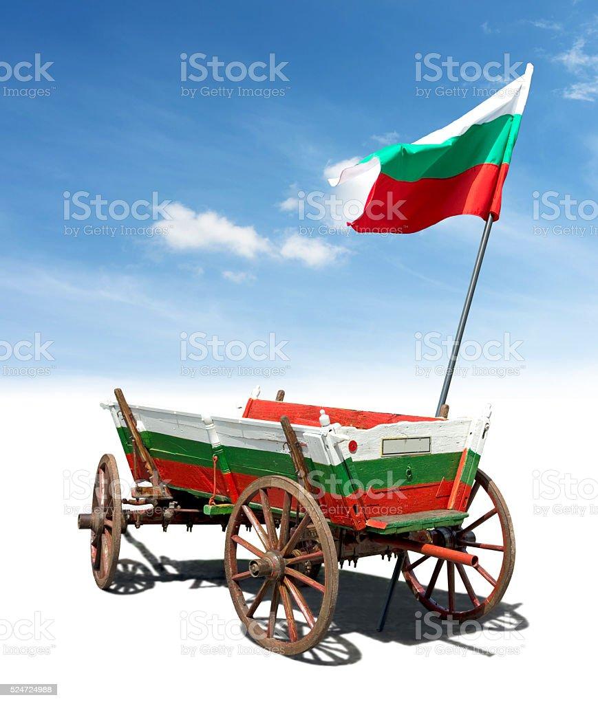 Flag of Bulgaria royalty-free stock photo