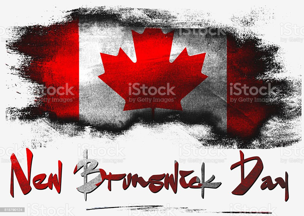 Flag of Canada for New Brunswick Day holiday stock photo