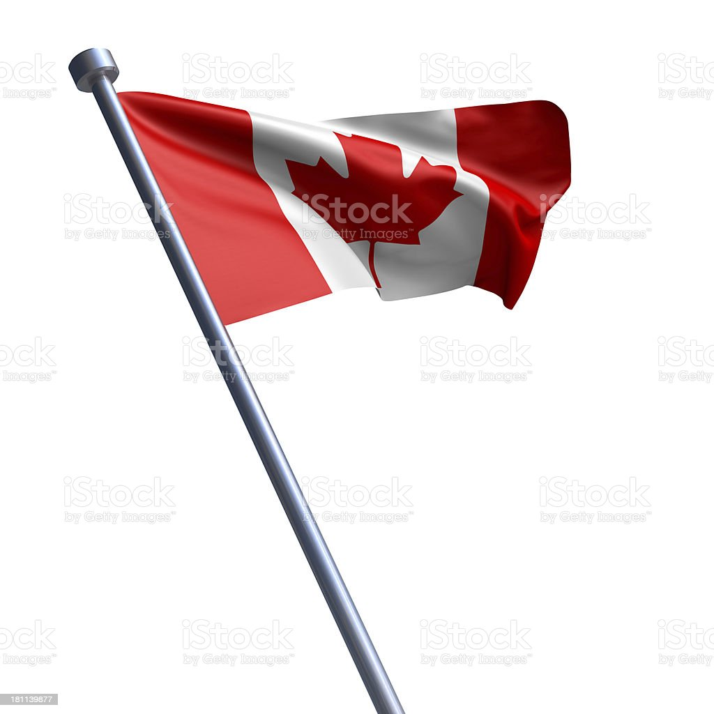 Flag of Canada isolated on white royalty-free stock photo