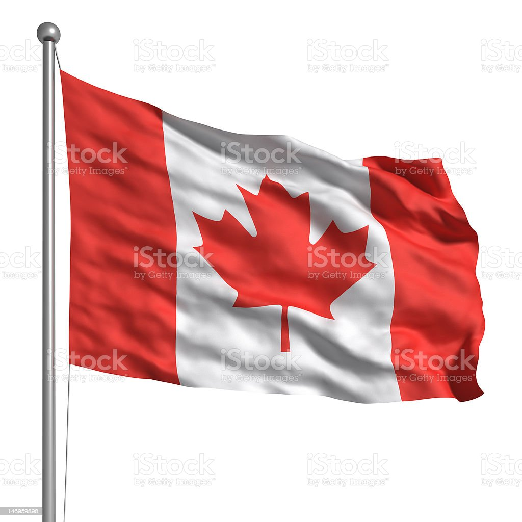 Flag of Canada (Isolated) stock photo