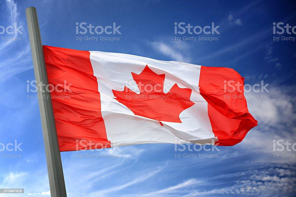 Flag of Canada stock photo