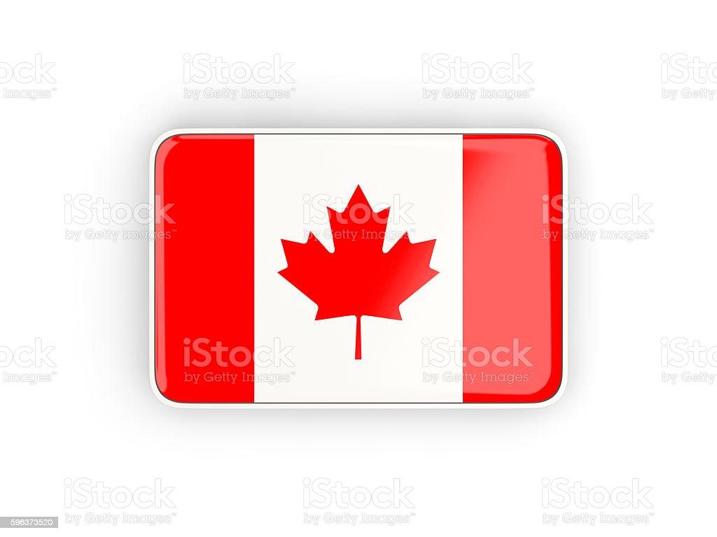 Flag of canada, rectangular icon stock photo