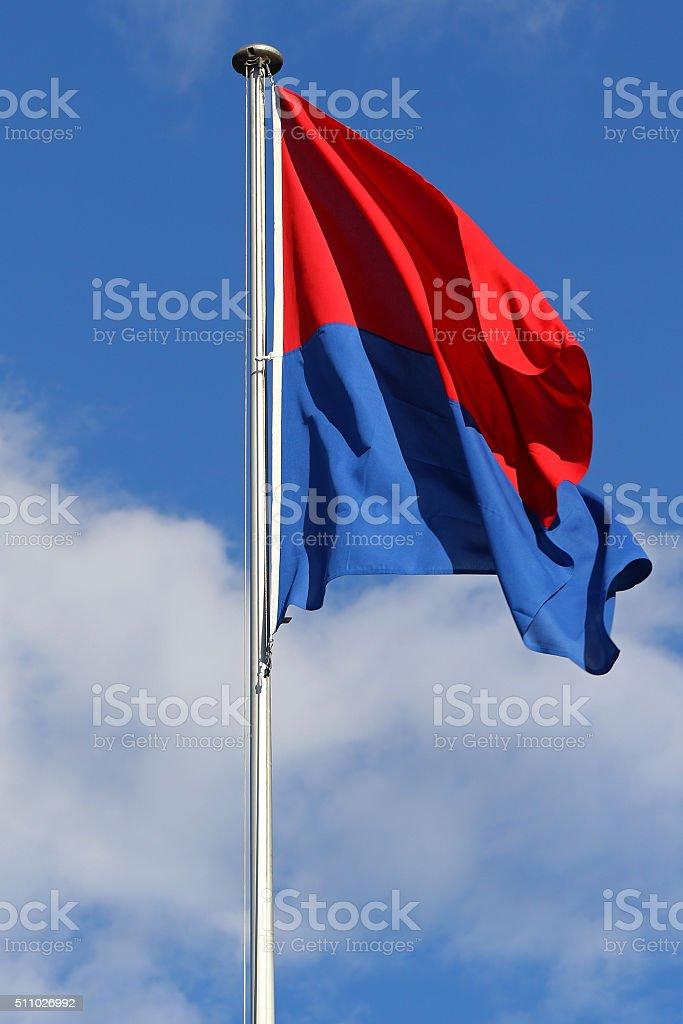 Flag of Canton Ticino stock photo