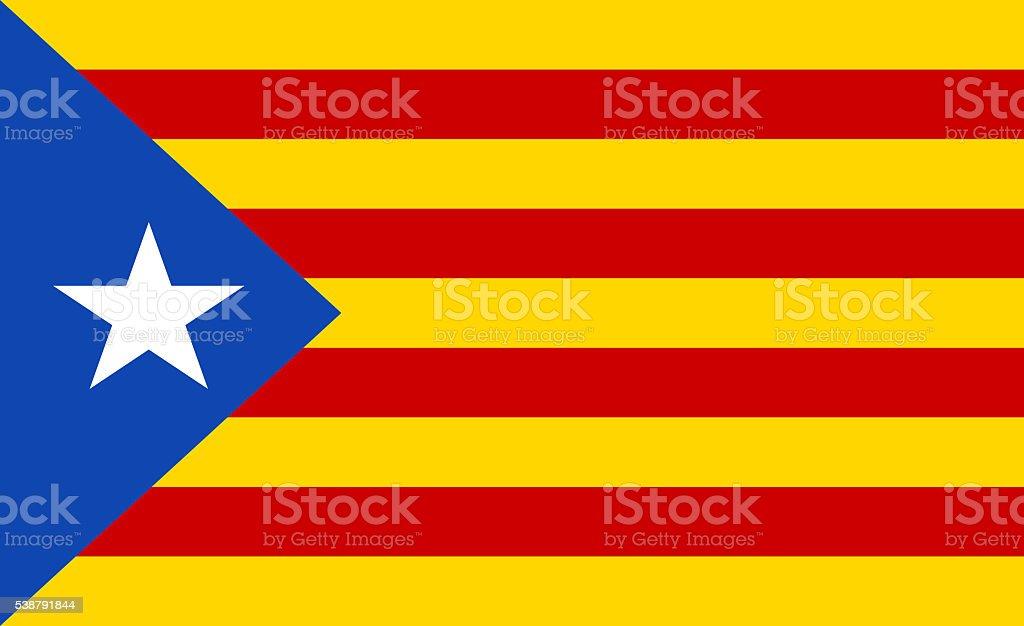 Flag of Catalonia - L'Estelada stock photo