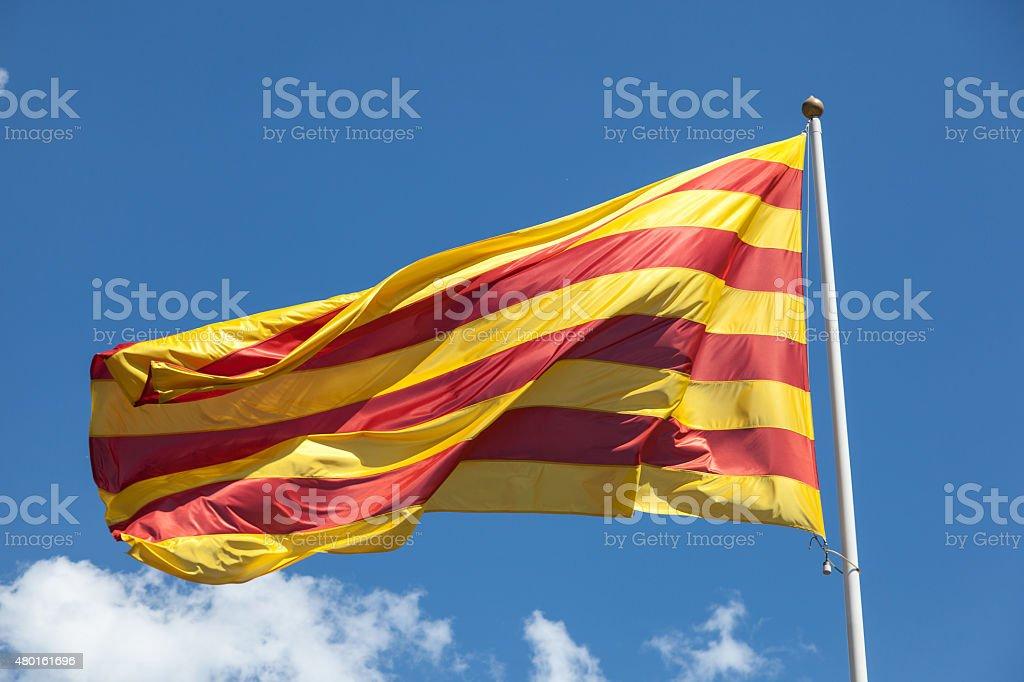 Flag of Catalonia stock photo