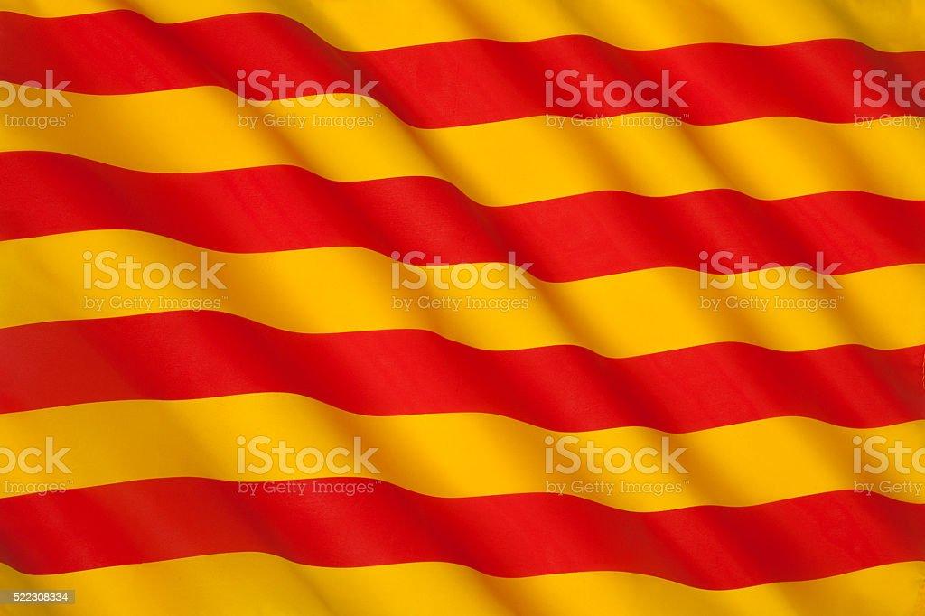Flag of Catalonia - Spain stock photo