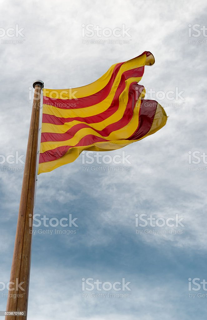 Flag of Catalunya stock photo