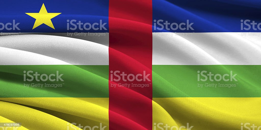 Flag of Central African Republic stock photo