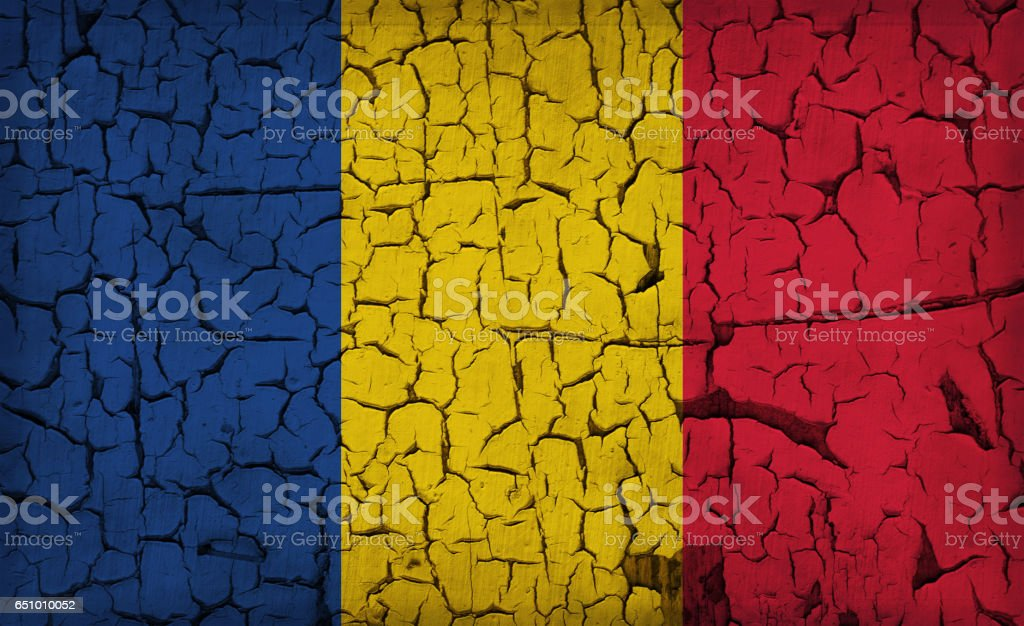 Flag of Chad stock photo