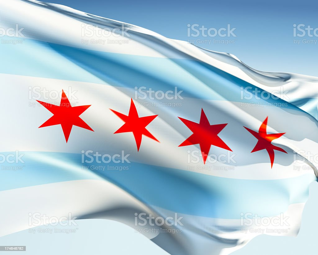 Flag of Chicago stock photo