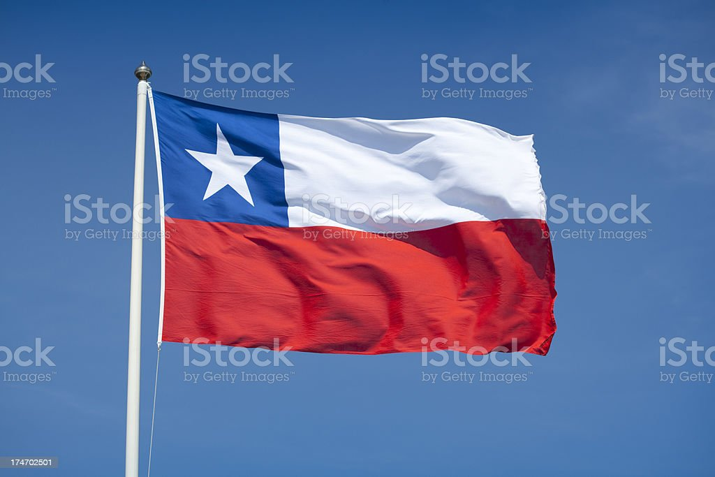 Flag of Chile royalty-free stock photo