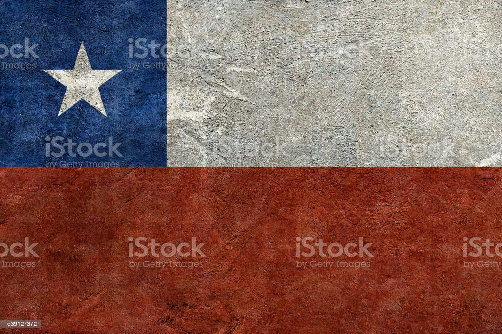 Flag of Chile stock photo