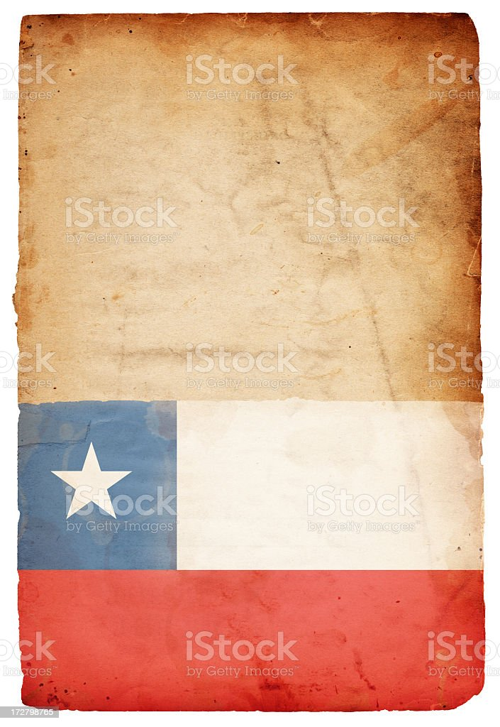 Flag of Chile XXXL royalty-free stock photo