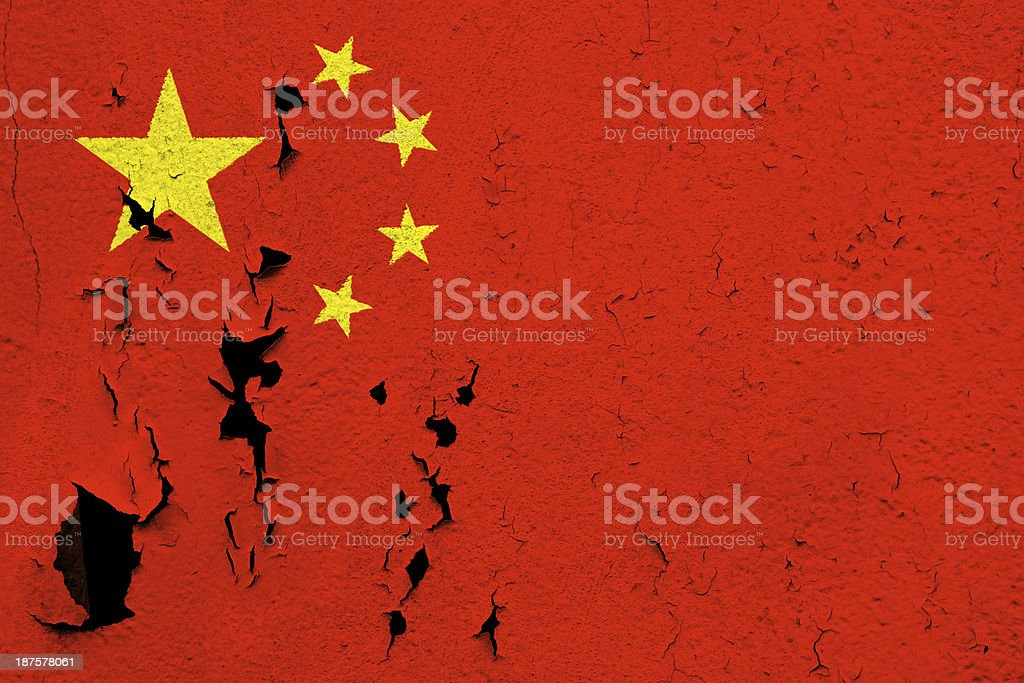 Flag of  China royalty-free stock photo