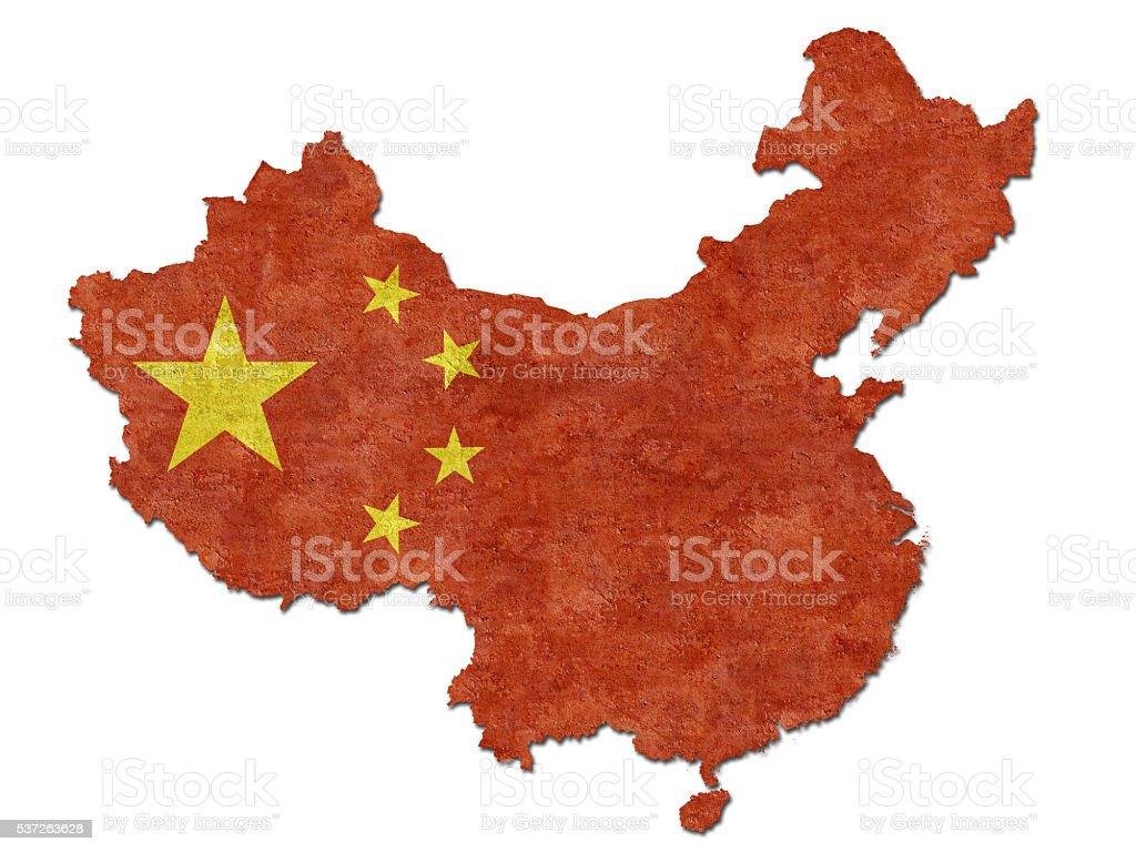 Flag of China stock photo