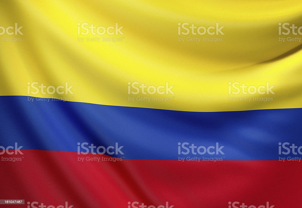Flag of Colombia stock photo