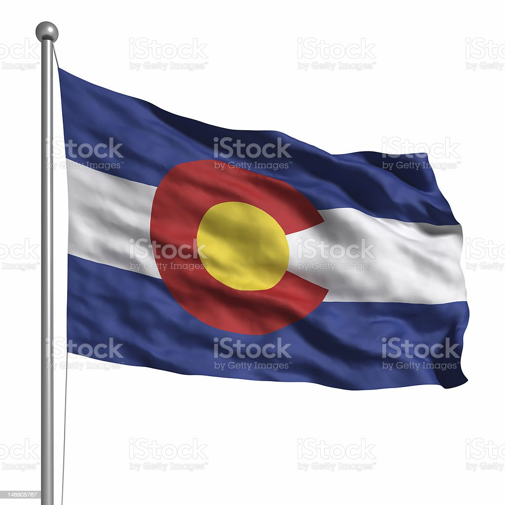 Flag of Colorado (isolated) stock photo