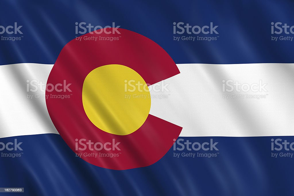 flag of colorado royalty-free stock photo