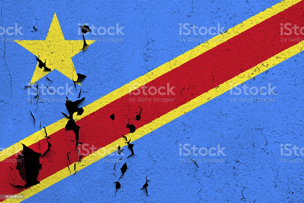 Flag of  Congo stock photo
