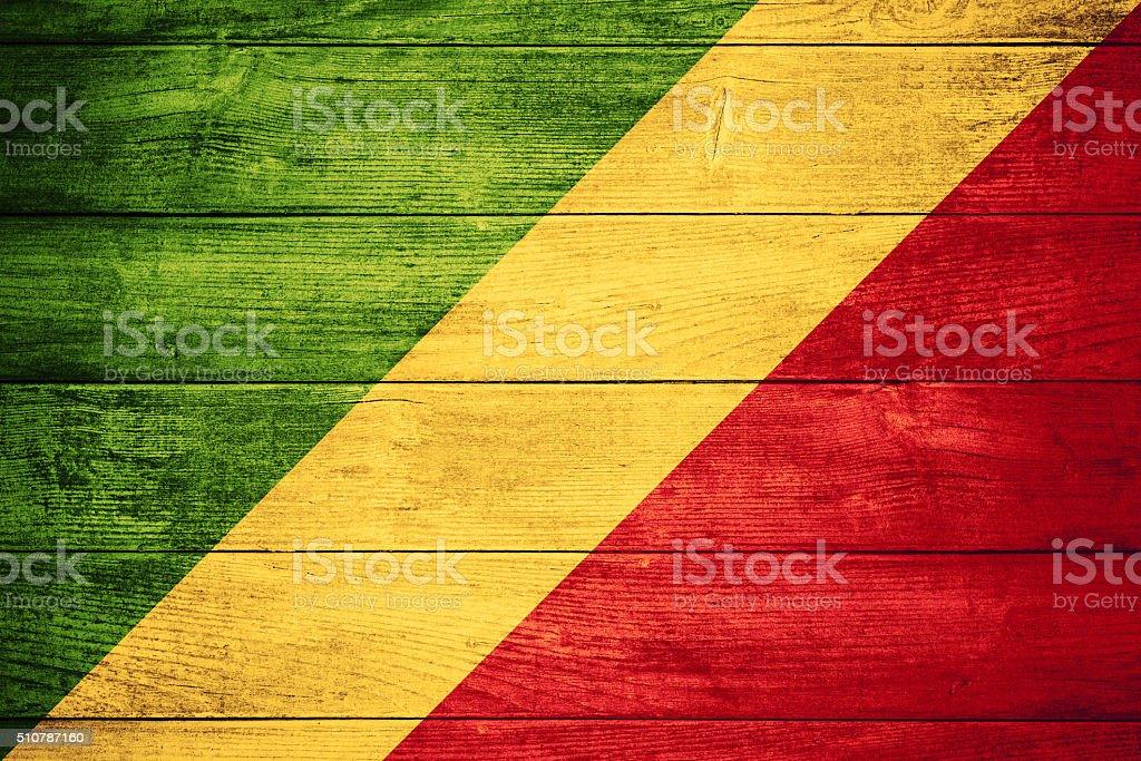 flag of Congo stock photo