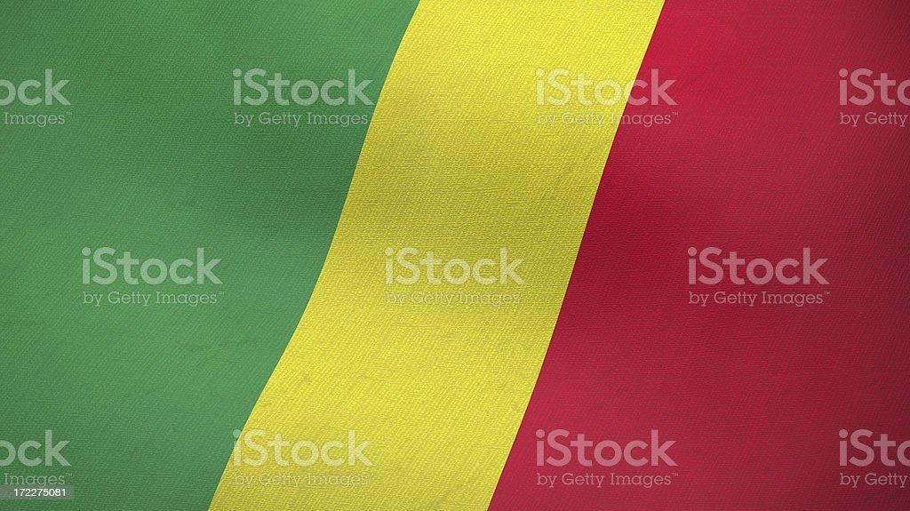 3D flag of Congo Republic stock photo