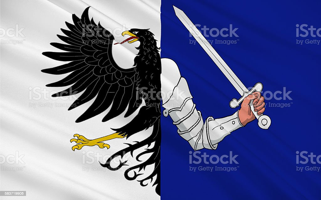 Flag of Connacht is one of the provinces of Ireland stock photo