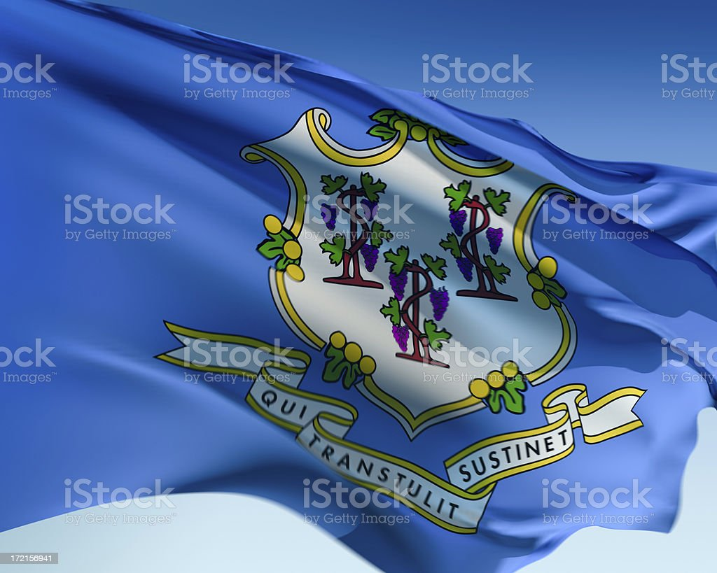 Flag of Connecticut royalty-free stock photo