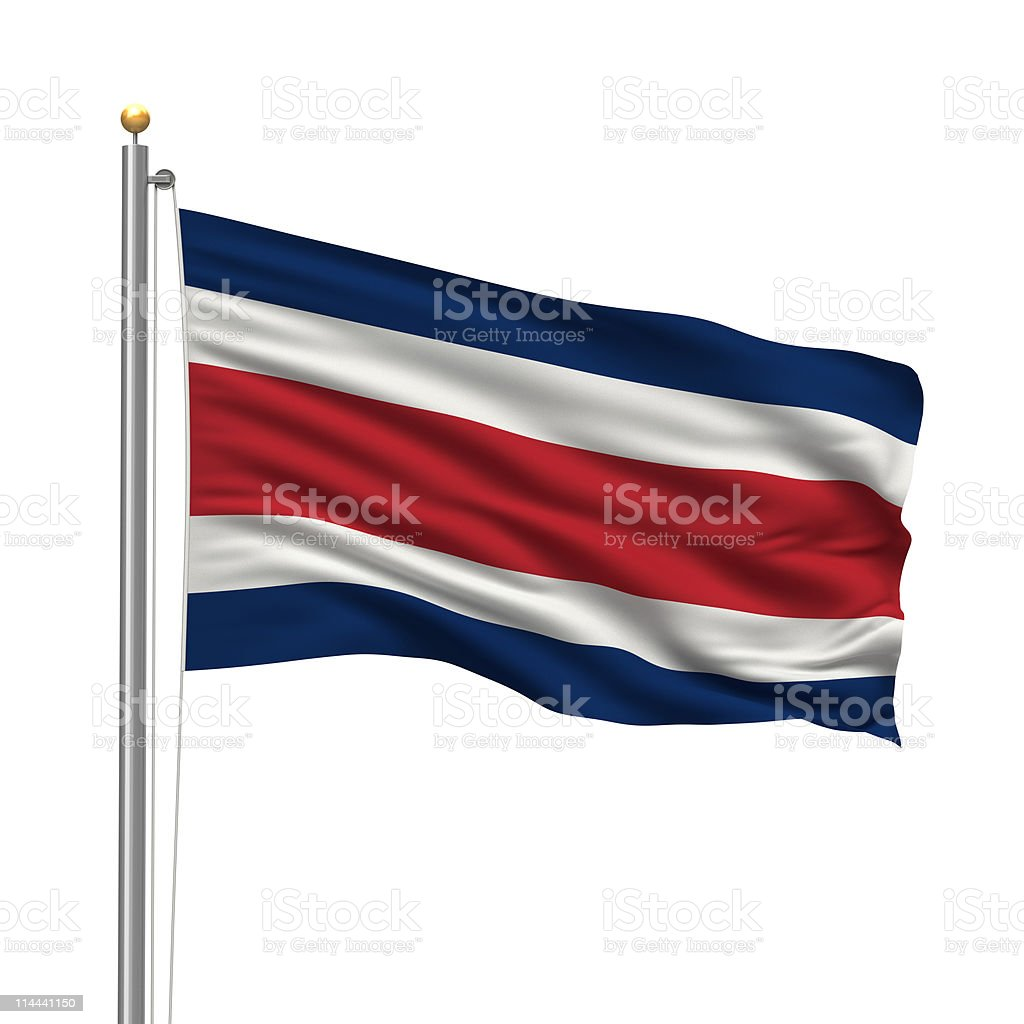 Flag of Costa Rica stock photo
